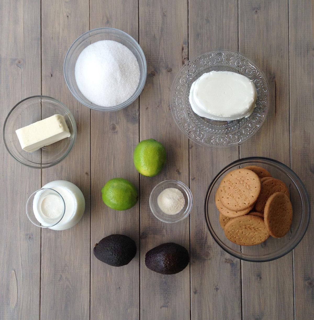 cheesecake_avocado_lime_ingredienti