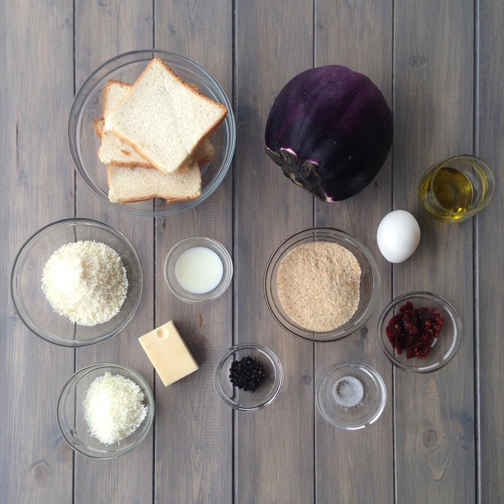 Polpette_melanzana_e_pomodorini_secchi_ingredienti