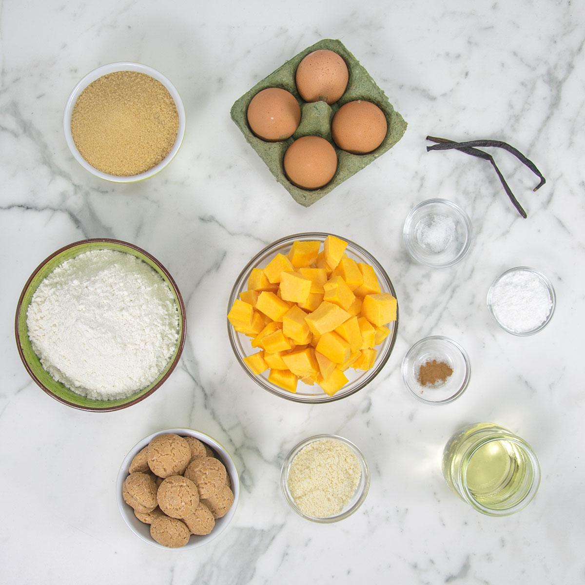 ciambella_zucca_amaretti_ingredienti