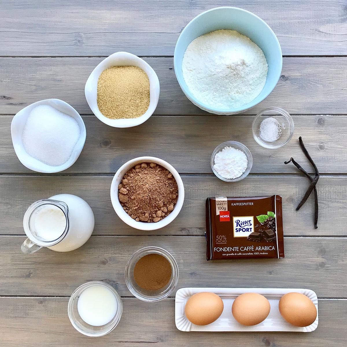 bundt_cioccolato_glassa_caffè_ingredienti