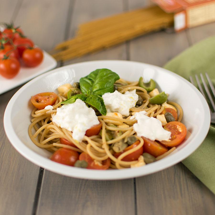 spaghetti_integrali_pomodorini_burrata_ricetta_2