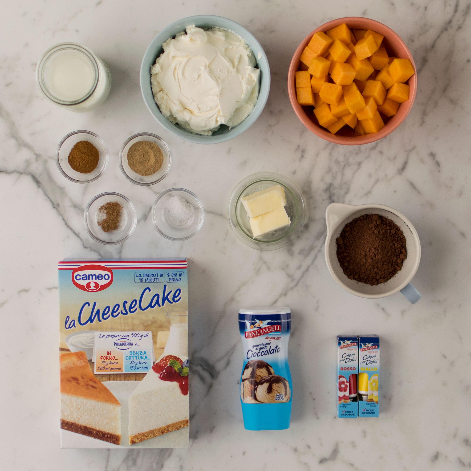 cheesecake_zucca_spezie_halloween_ingredienti