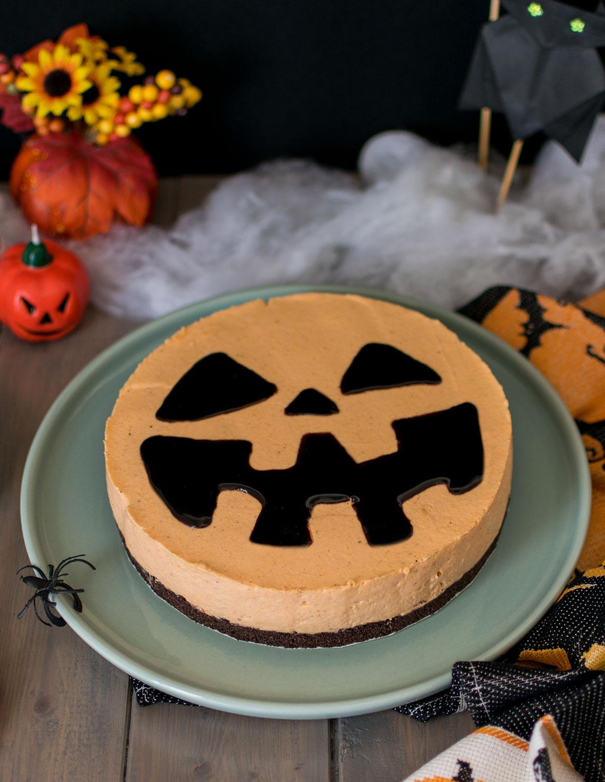 cheesecake_zucca_spezie_halloween_ricetta