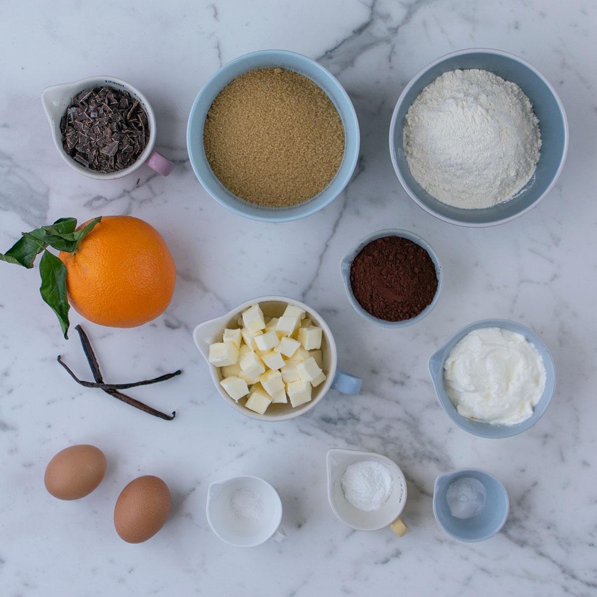 plumcake_cioccolato_arancia_ingredienti